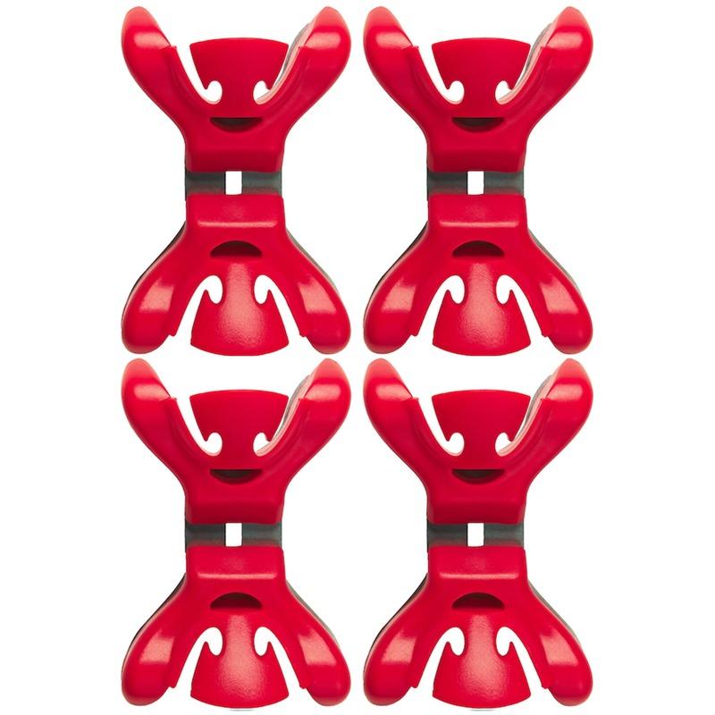 12x Slingers/decoratie ophangen slingerklemmen rood