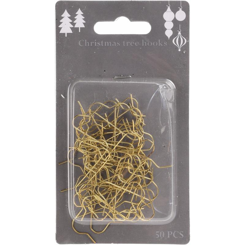 150x Kerstboom kerstbalhaakjes-Kerstboomhaakjes goud