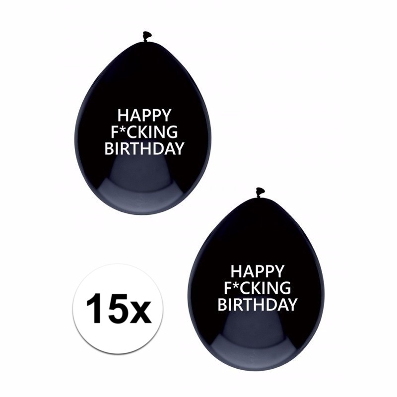 15x Happy Fucking Birthday ballonnen