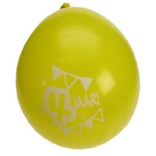 16x stuks party ballonnen 4 jaar thema