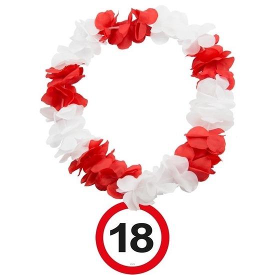 18 Jaar verkeersbord bloemenslinger