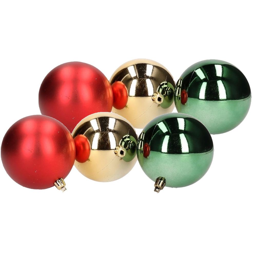 18x Kerstboom decoratie kerstballen mix rood/groen 6 cm