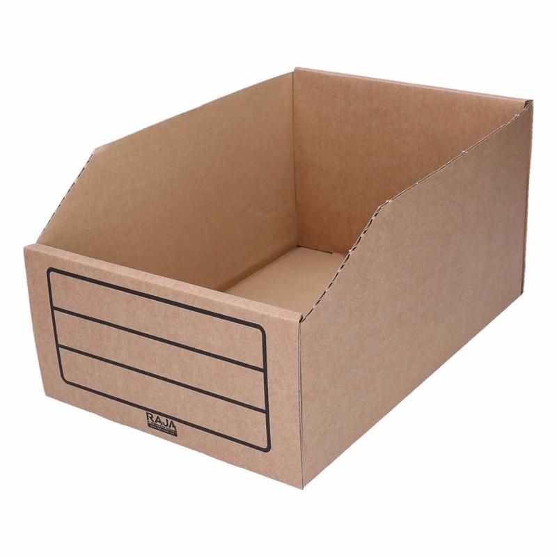 18x stuks sorteer/Opslag bakje 20 x 30 cm van karton