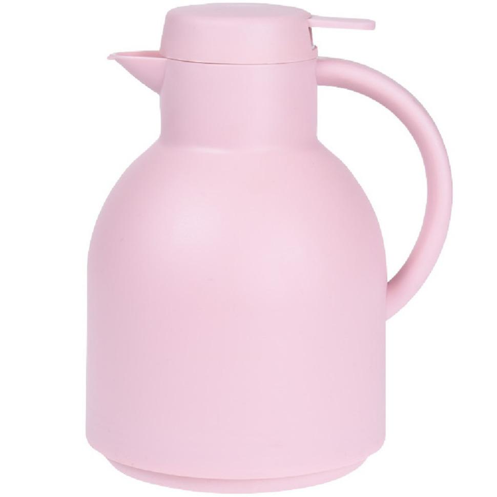 1x Roze thermoskannen isoleerkannen 1 liter
