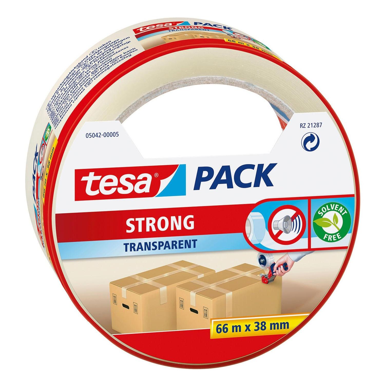1x Tesa verpakkingstape transparant 66 mtr x 38 mm verpakkingsbenodigdheden