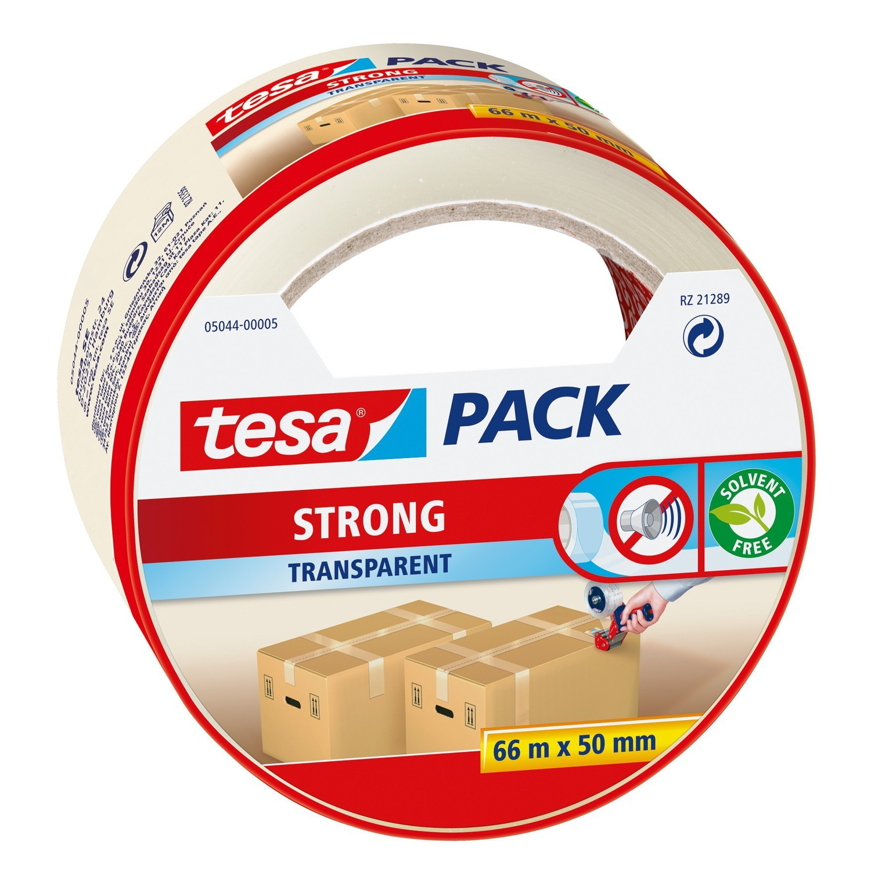 1x Tesa verpakkingstape transparant 66 mtr x 50 mm verpakkingsbenodigdheden