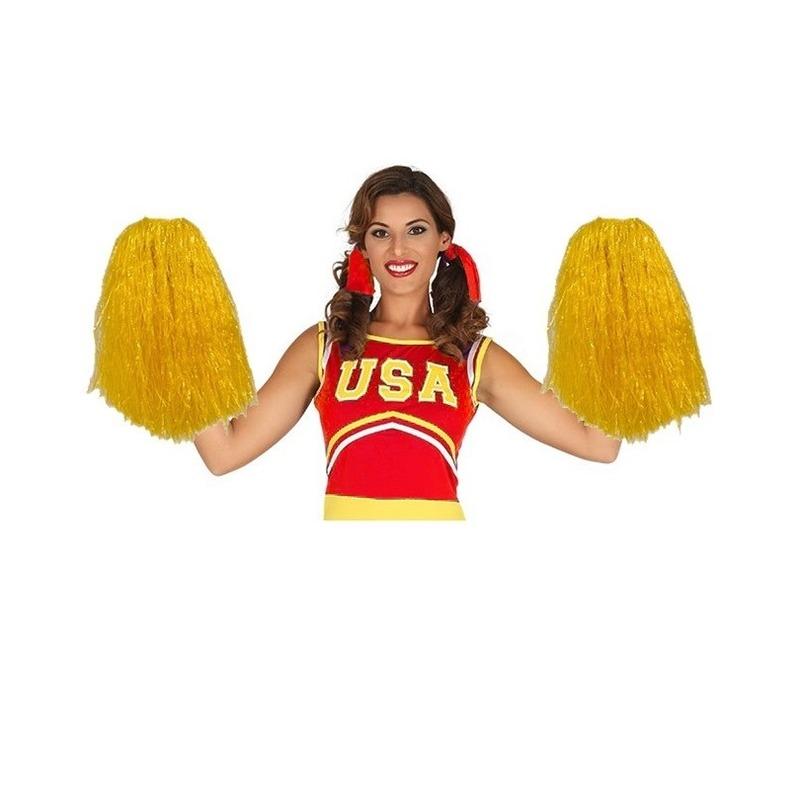 2 stuks Cheerballs geel 33 cm