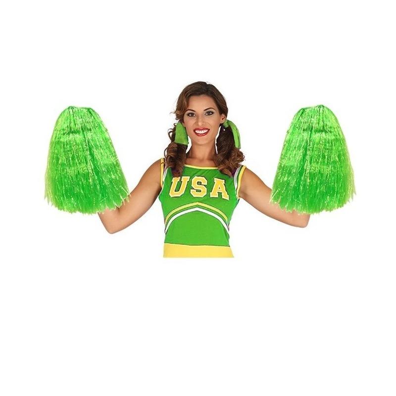 2 stuks Cheerballs groen 33 cm