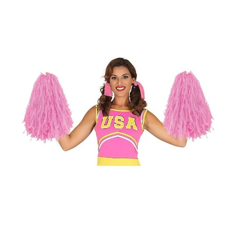 2 stuks Voordelige cheerball roze 28 cm