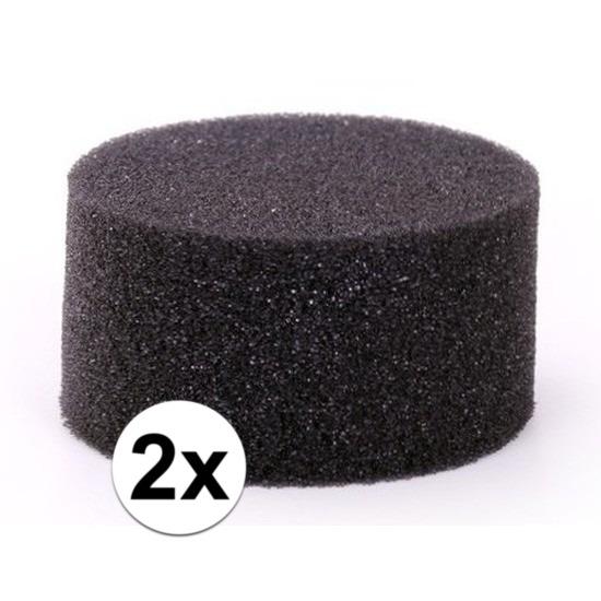 2 stuks zwarte schmink-make up sponsjes rond