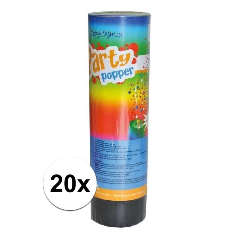 20x Party popper confetti 15 cm