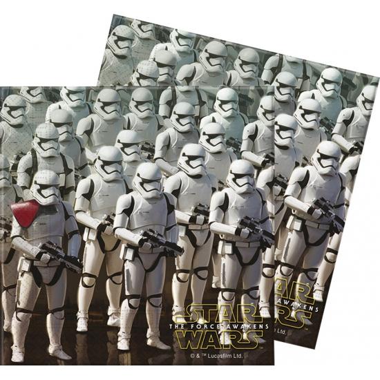 20x Star Wars themafeest servetten 33 x 33 cm papier Multi