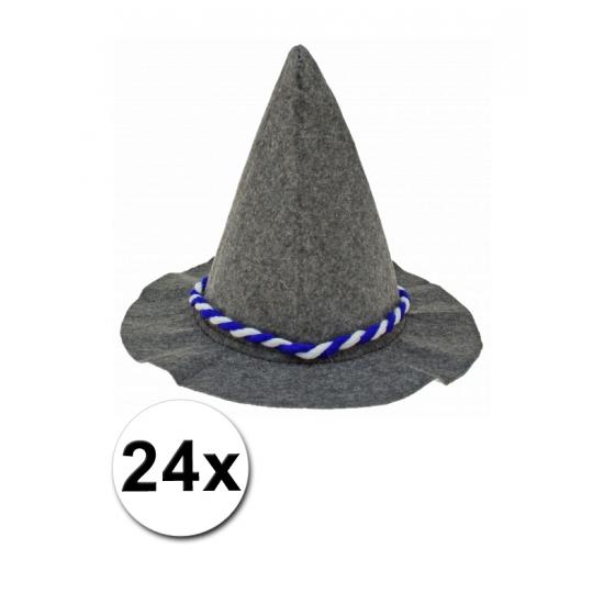 24 Bayernhoedjes met blauw en wit touw