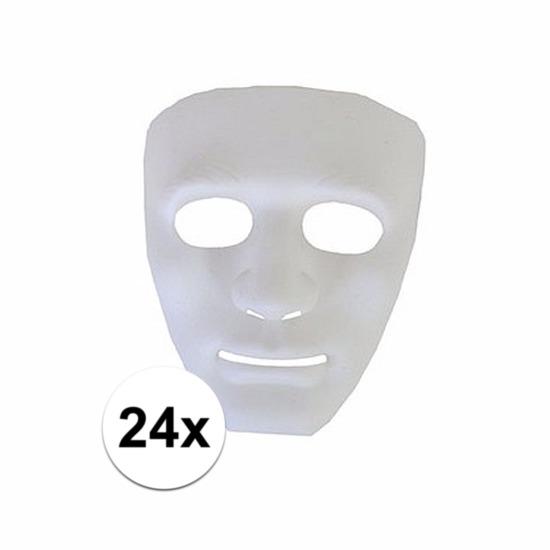 24 plastic spoken gezichtsmaskers