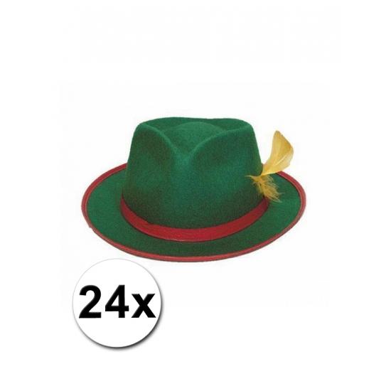 24 Tiroler hoedjes groen