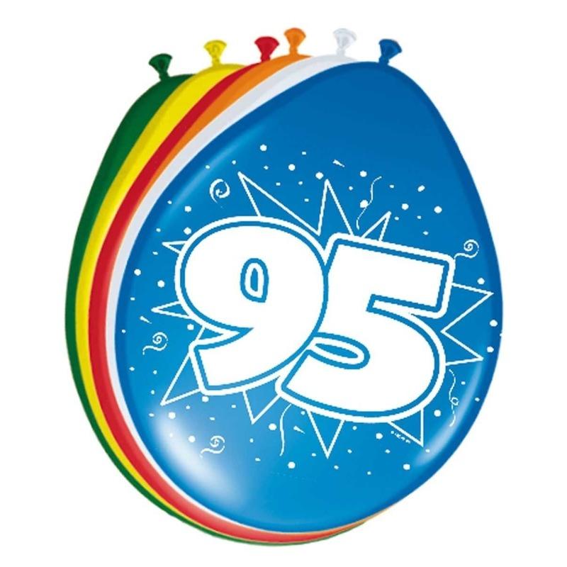 24x stuks Ballonnen versiering 95 jaar