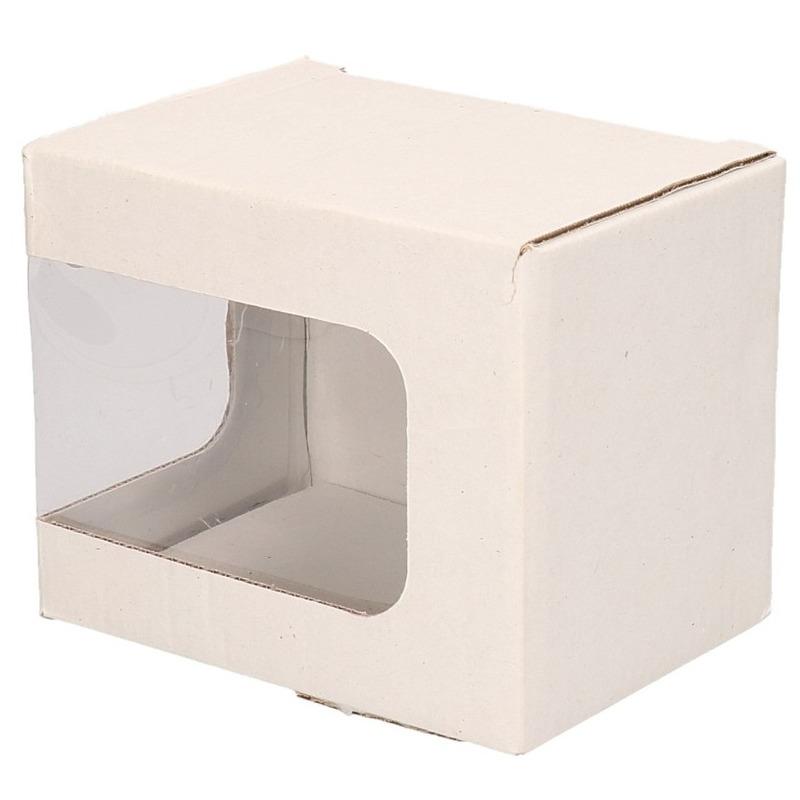 25x Kartonnen cadeaudoosjes met venster 12 x 9 x 10 cm