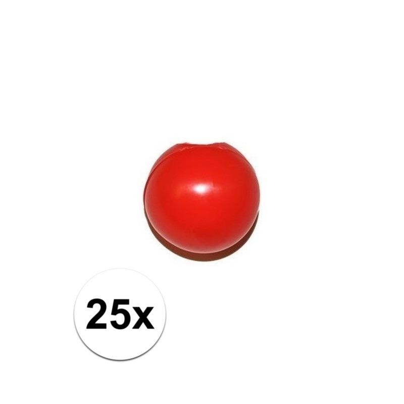25x Rode clownsneus/neuzen zonder elastiek