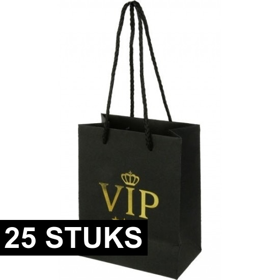 25x VIP kadotassen 11 x 14 cm