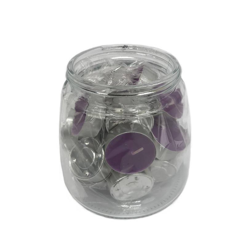 25x Waxinelichtjes/theelichtjes lavendel geur in pot