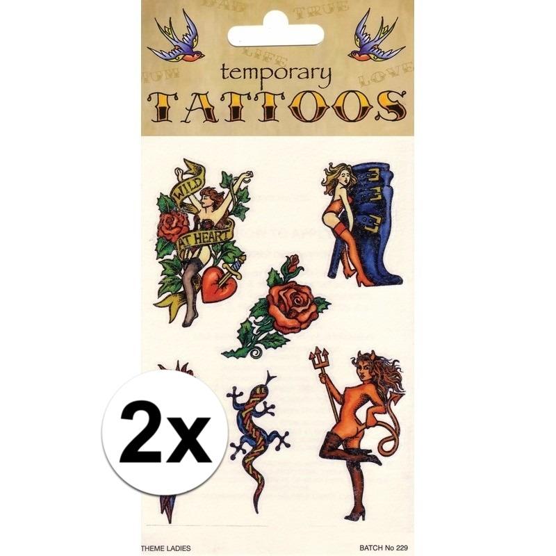 2x Biker tattoos 6 stuks