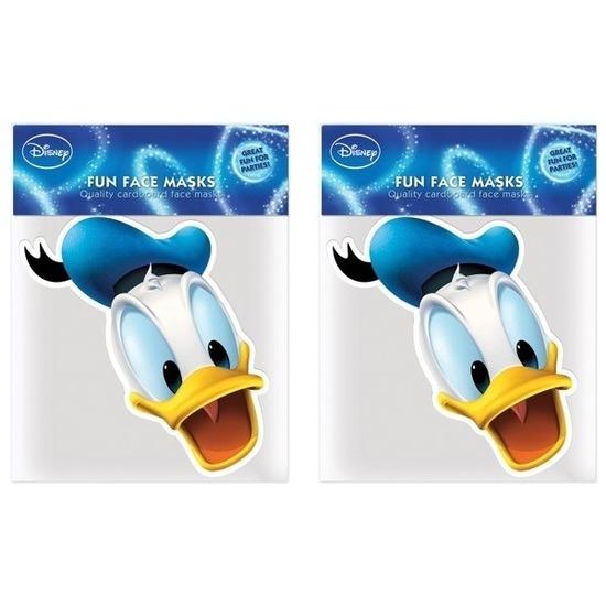 2x Donald Duck maskers