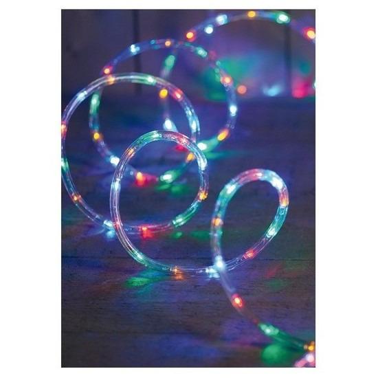 2x Kerstverlichting lichtslang 216 lampjes gekleurd 9 m Multi