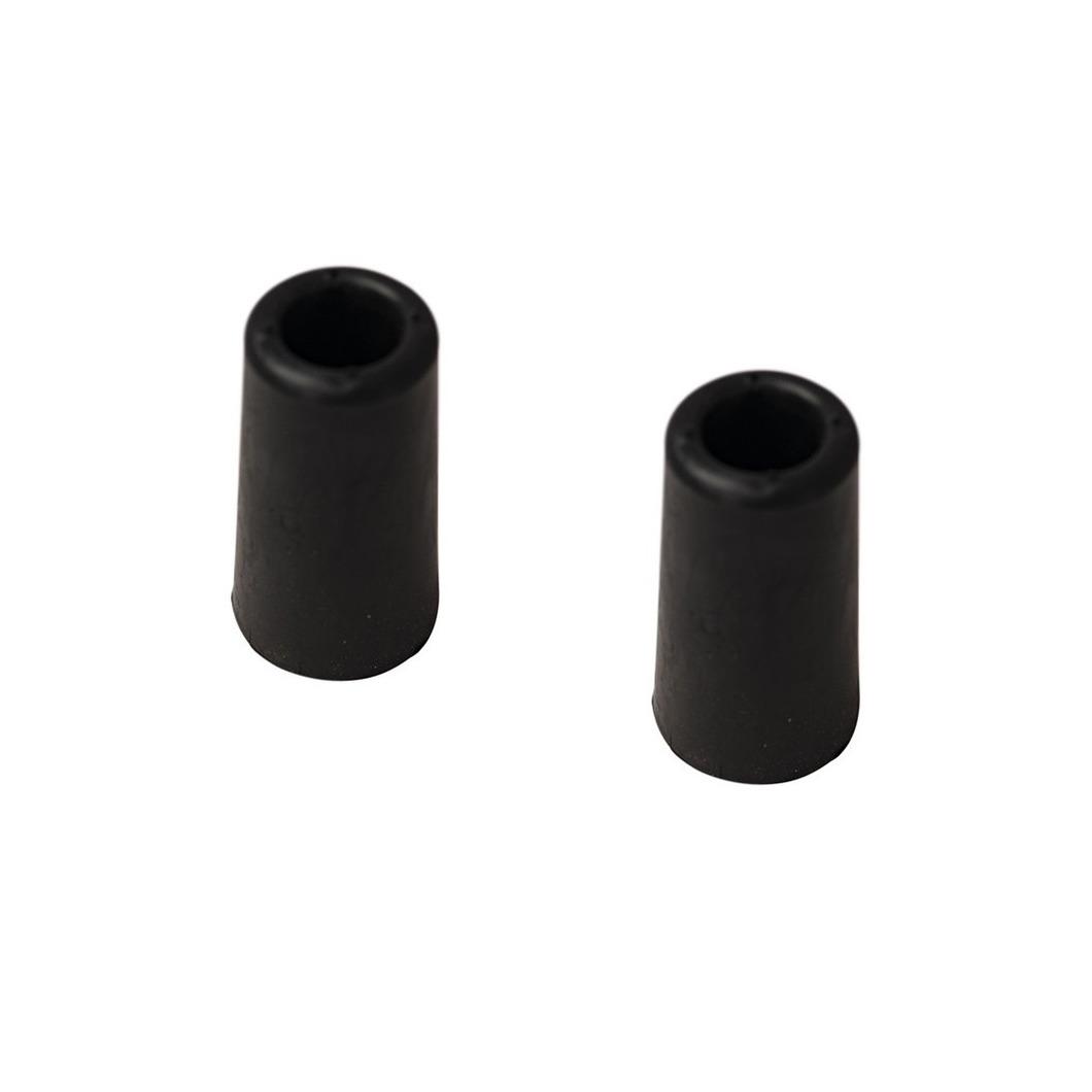2x stuks deurstopper - deurbuffer rubber zwart 75 mm