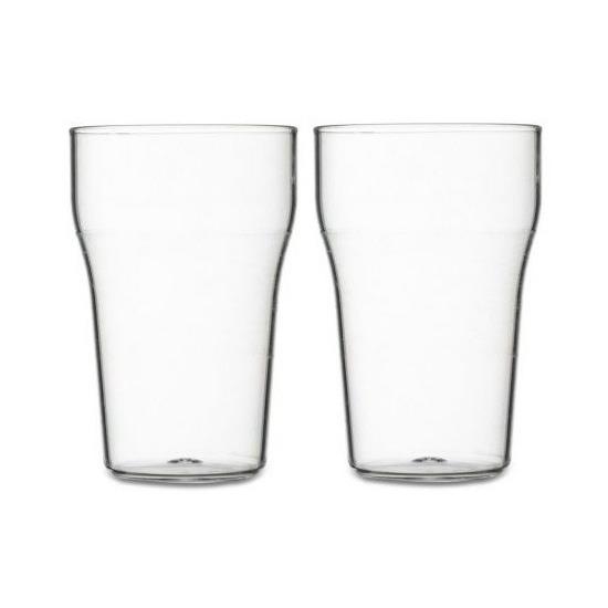 2x stuks Frisdrank glazen van kunststof 175ml