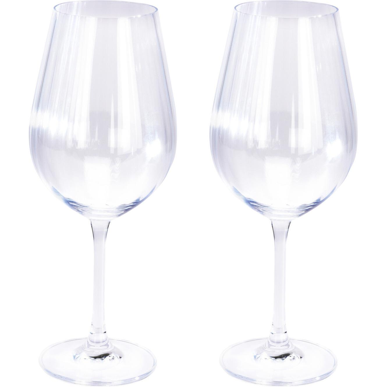 2x Witte wijnglazen 52 cl 520 ml van kristalglas