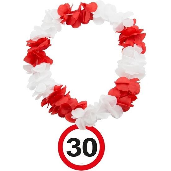 30 Jaar verkeersbord bloemenslinger