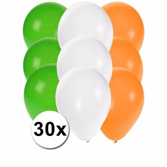 30x Ballonnen in Ierse kleuren
