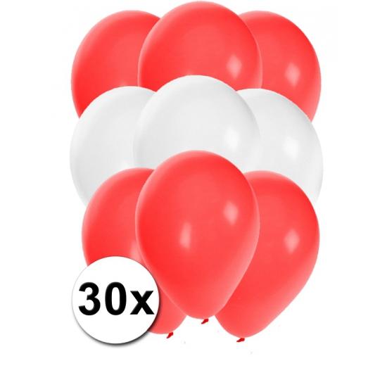 30x Ballonnen in Oostenrijkse kleuren