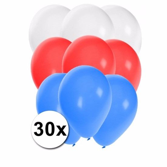 30x Ballonnen in Russische kleuren