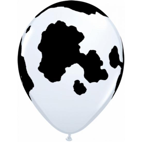 30x stuks Ballonnen met koeien print 28 cm