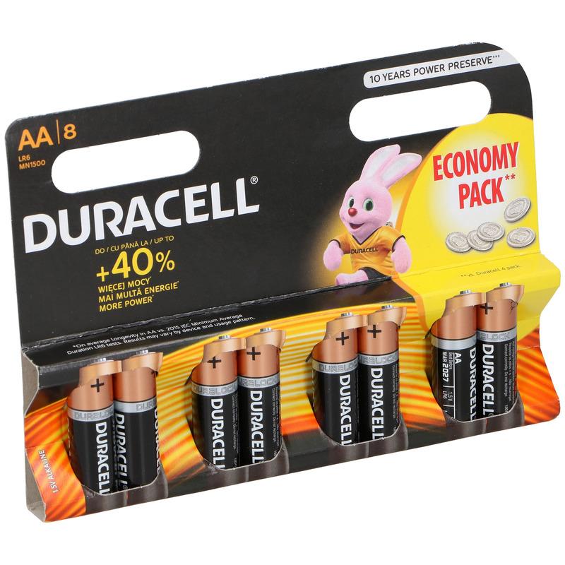 32x Duracell alkaline batterijen AA 1.5 V