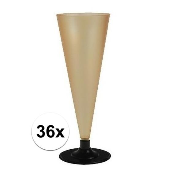 36 x Champagne glazen goudkleurig Goudkleurig
