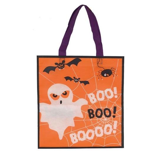 3x Halloween tas voor snoep oranje