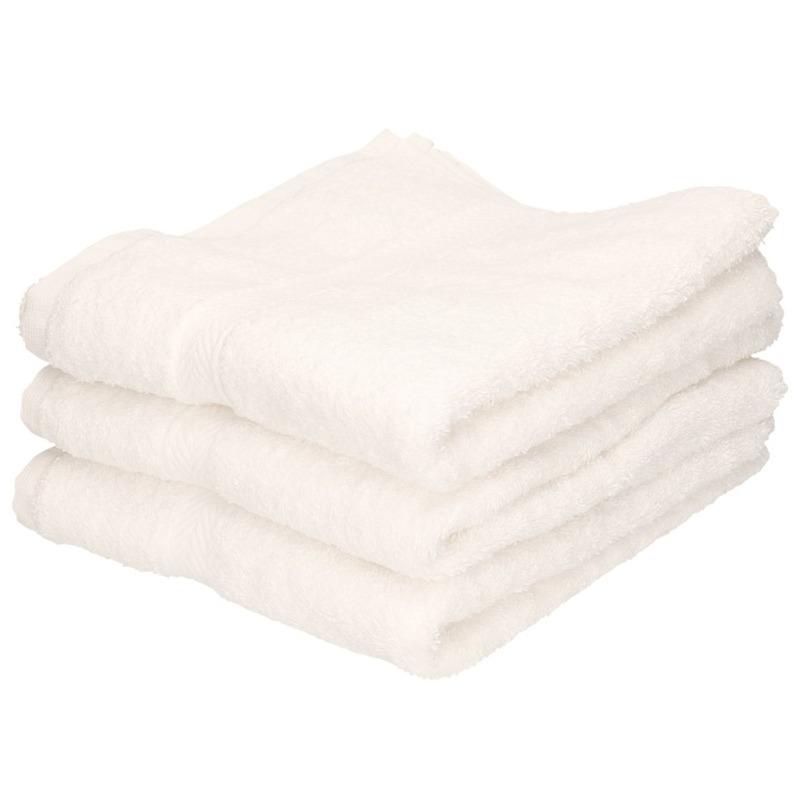 3x Luxe handdoeken wit 50 x 90 cm 550 grams