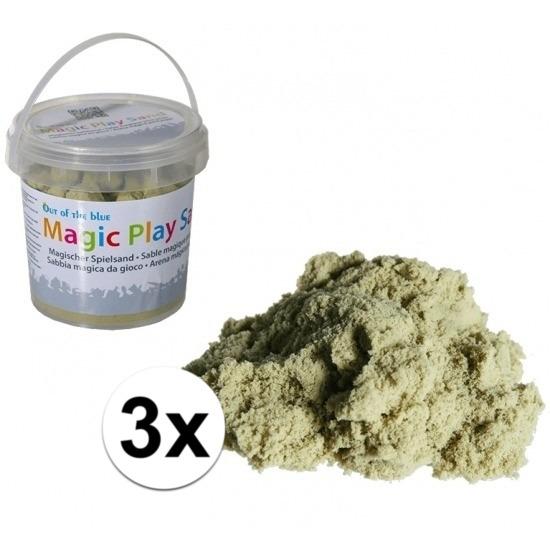 3x Magisch zand zandkleur 1kg