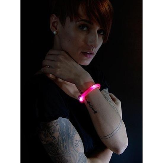 3x Rode LED licht wikkel armbanden voor volwassenen