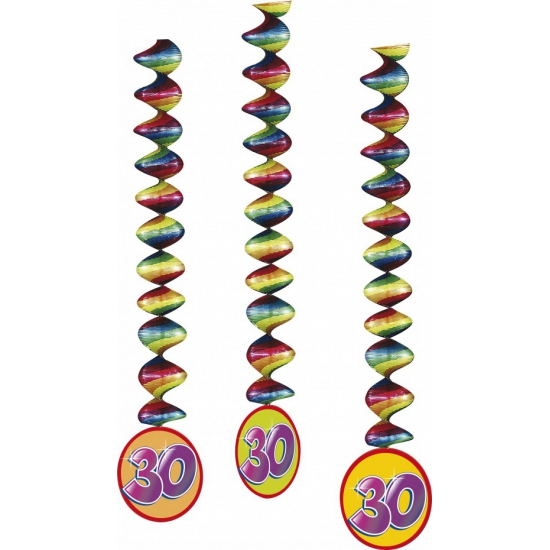 3x Rotorspiralen 30 jaar versiering feestartikelen