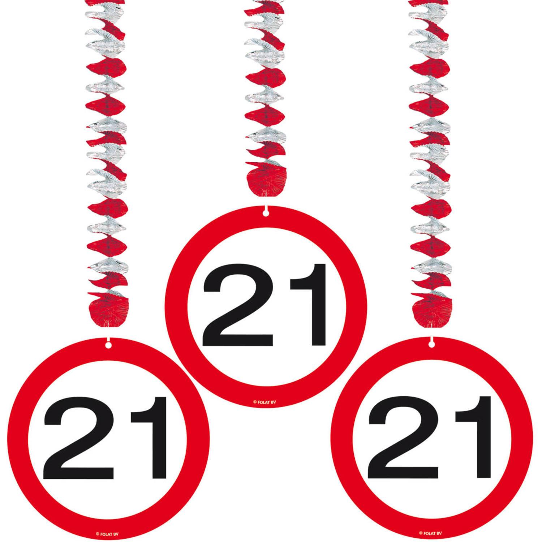 3x stuks rotorspiralen 21 jaar verkeersborden