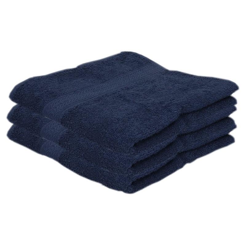 3x Voordelige handdoeken navy blauw 50 x 100 cm 420 grams