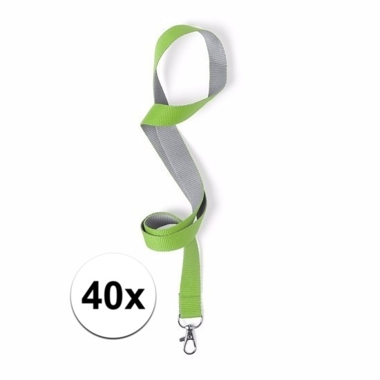 40 keycords groen/grijs 2 x 50 cm