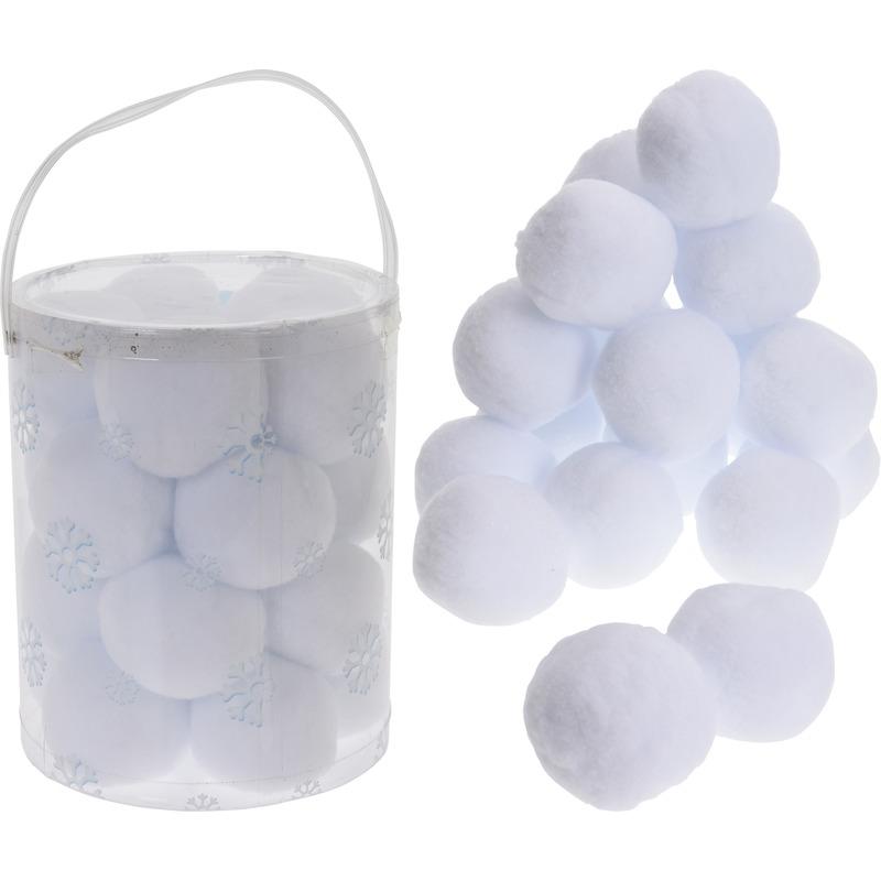 40x Witte sneeuwballen 8 cm