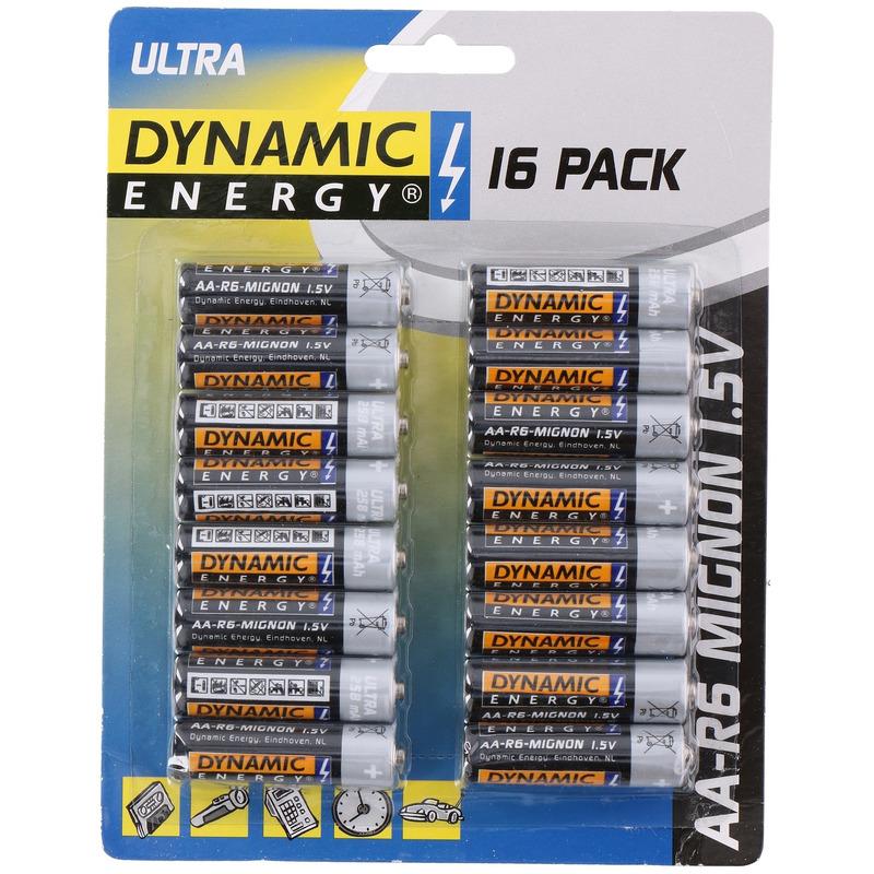 48x Dynamic energy AA batterijen 1.5 V