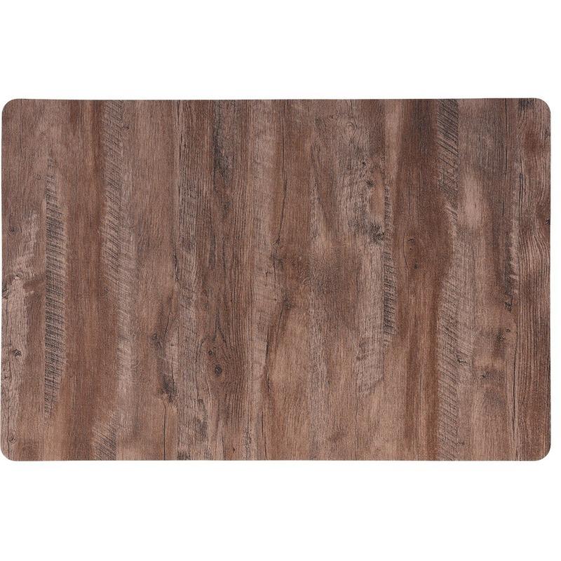 4x Placemat lichtbruin hout print 44 cm