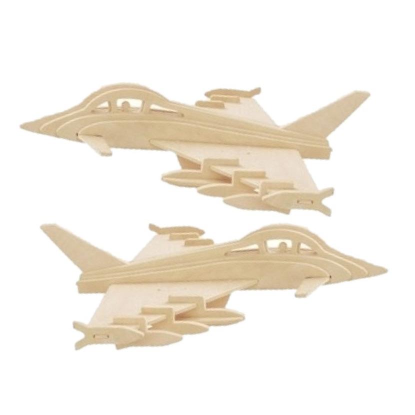 4x stuks bouwpakket Eurofighter straaljagers -