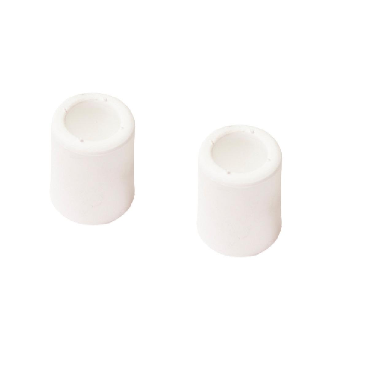 4x stuks deurstopper - deurbuffer rubber wit 60 mm